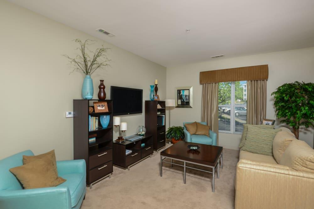Open floor plan living area at Sofi Danvers in Danvers, MA
