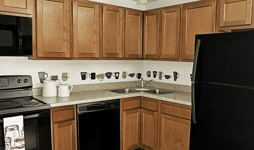 Webster Manor Apartments in Webster, New York showcase a beautiful kitchen