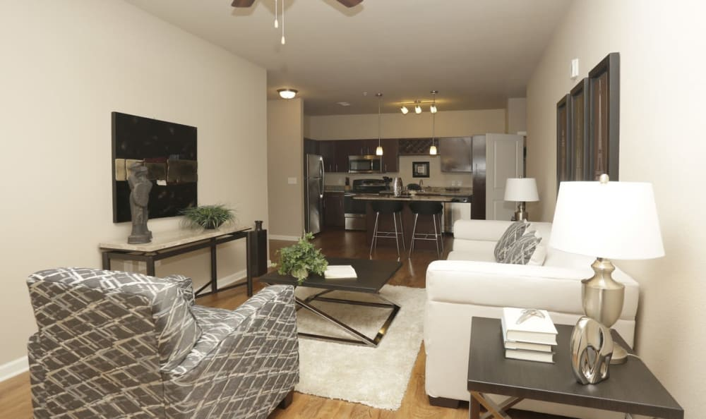 modern living room at Springs at Laurens Road in Greenville