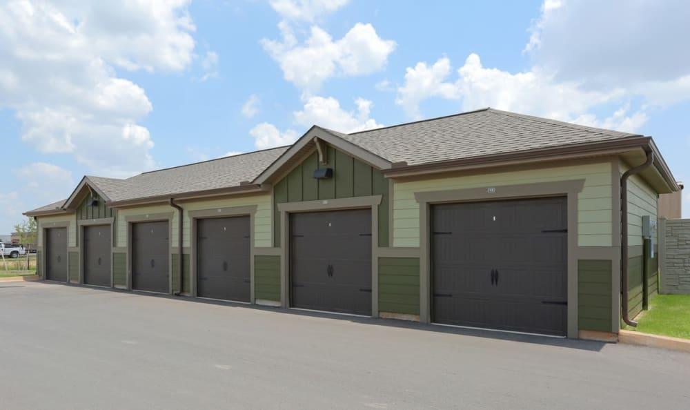 Detached garages at Springs at Memorial in Oklahoma City
