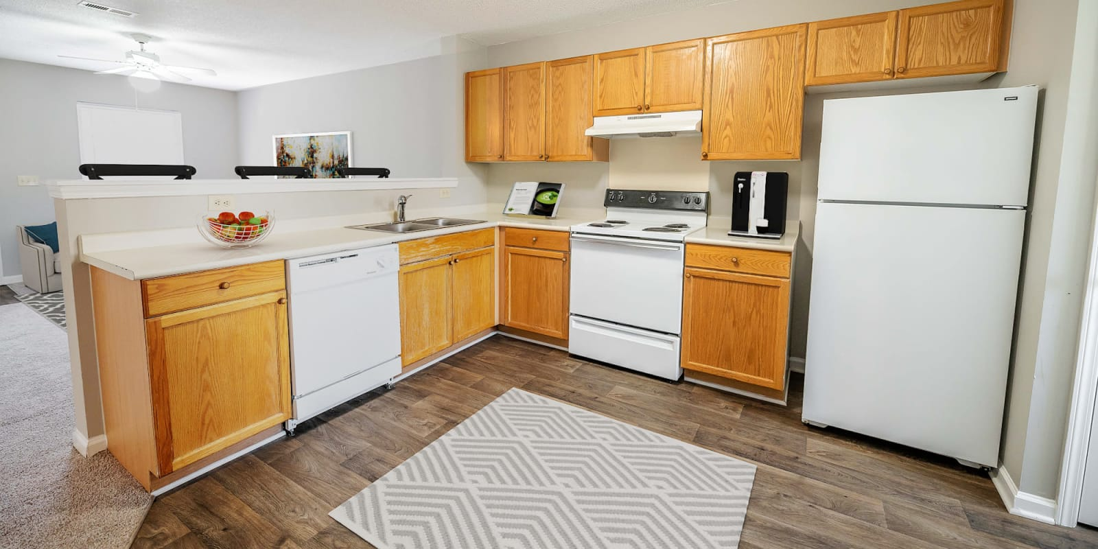 Kitchen at Parkway Station Apartment Homes in Concord, North Carolina