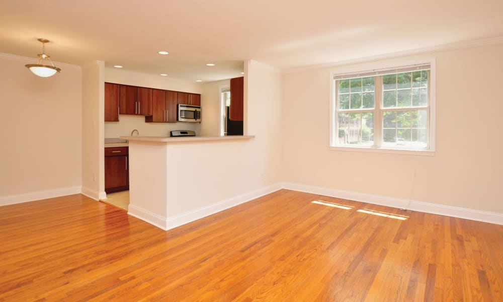 Open, spacious floor plan at The Villas at Bryn Mawr Apartment Homes in Bryn Mawr, Pennsylvania