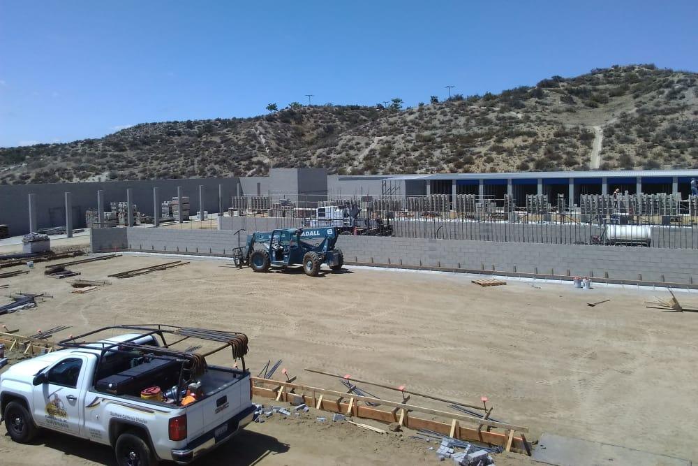 Interior buildings' concrete at Silverhawk Self Storage