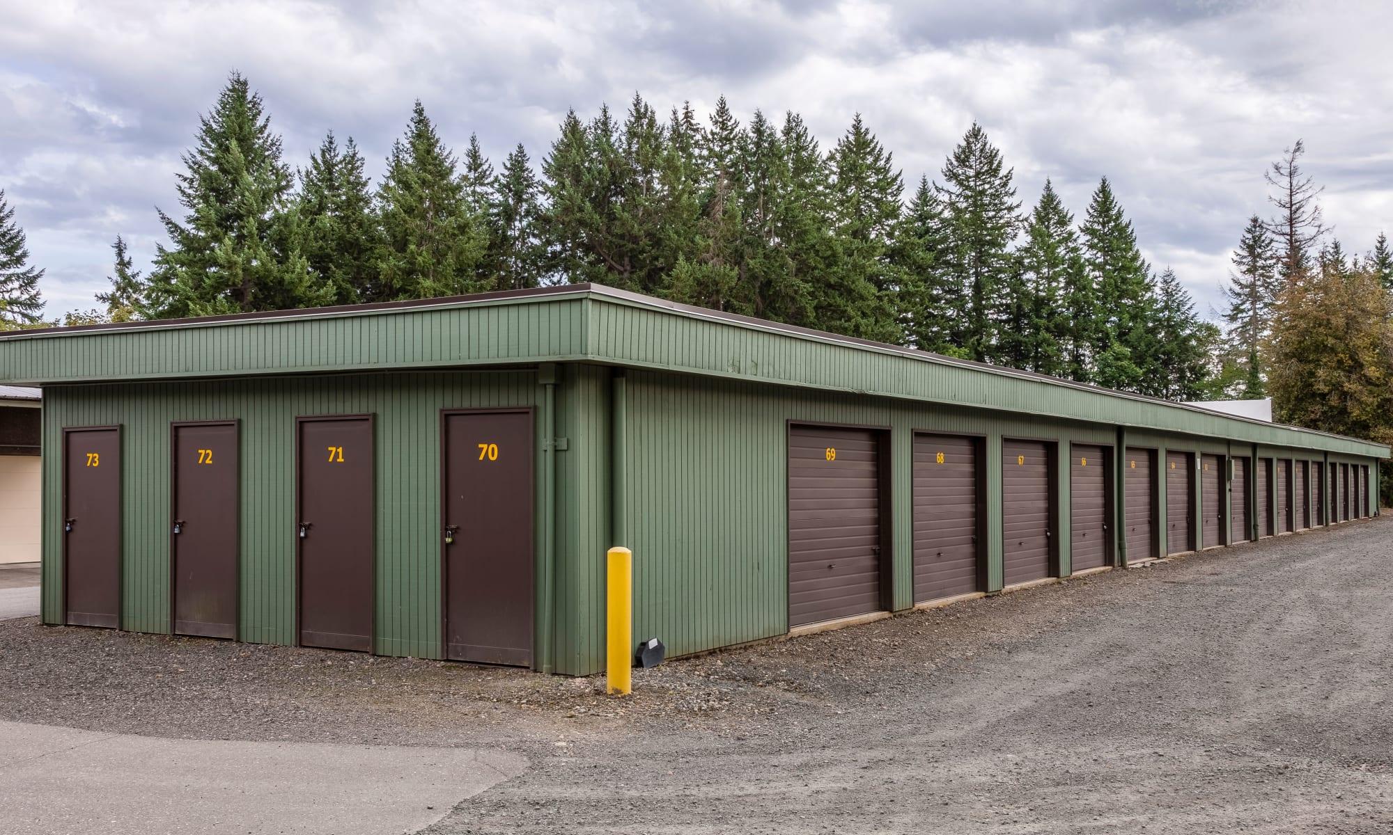 Self storage at Bainbridge North Storage in Bainbridge Island, Washington.