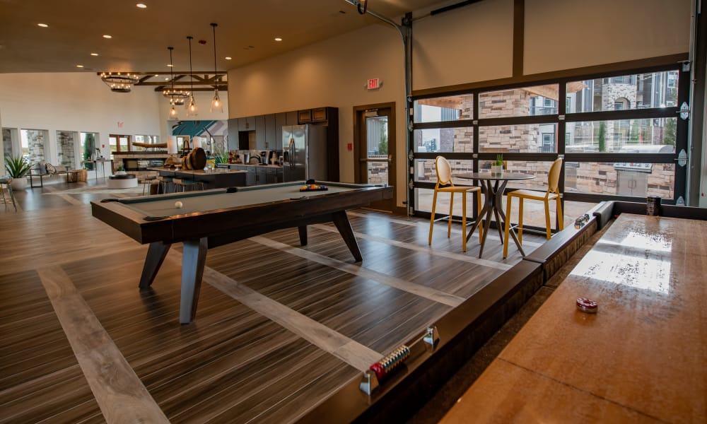 Billiards table at Stonehorse Crossing Apartments in Oklahoma City, Oklahoma