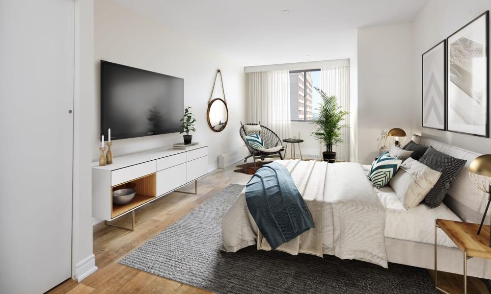 Our apartments in Halifax, Nova Scotia showcase a modern bedroom