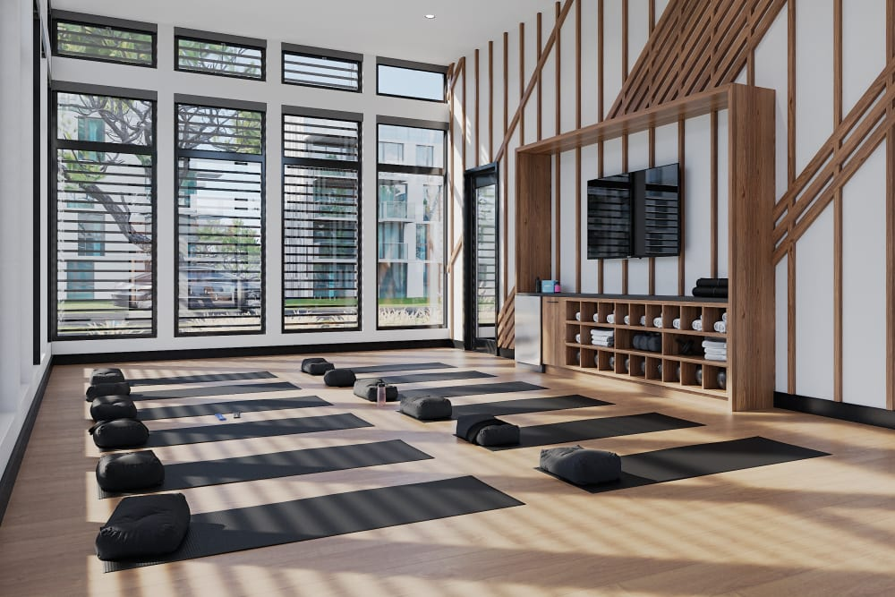 On-Demand Fitness Studio at Solana Stapleton Apartments in Denver, Colorado