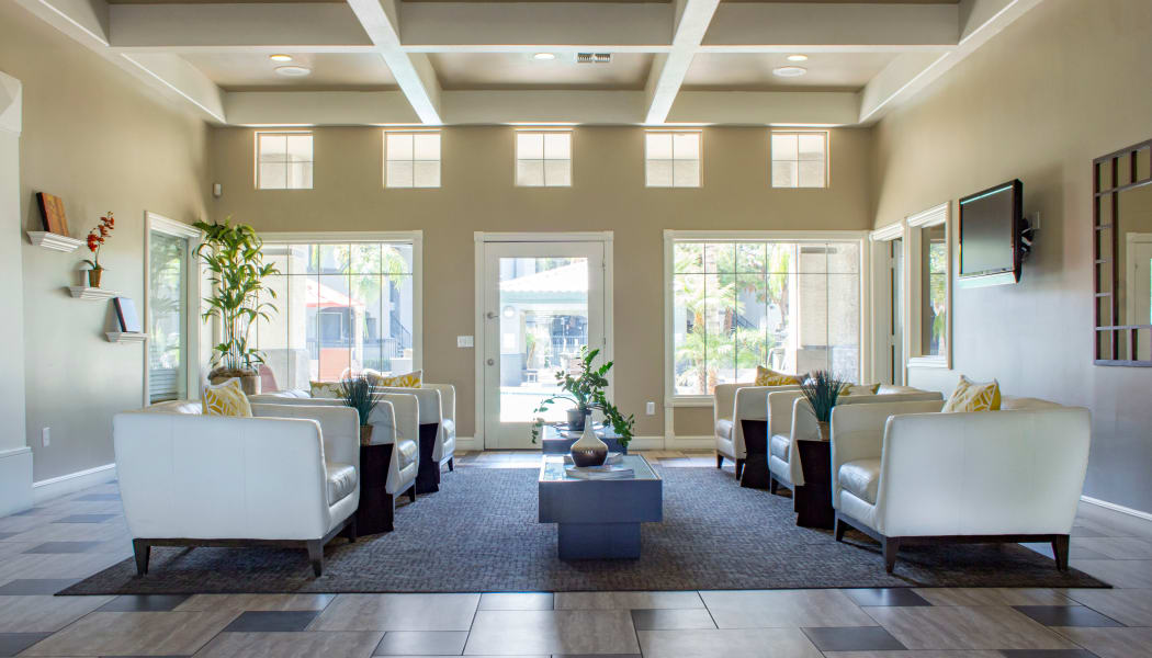 Luxurious leasing office interior at Sierra Canyon in Glendale, AZ