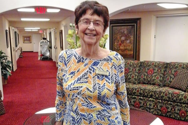 Catherine Reynolds, a resident at Desert Springs Gracious Retirement Living in Oro Valley, Arizona