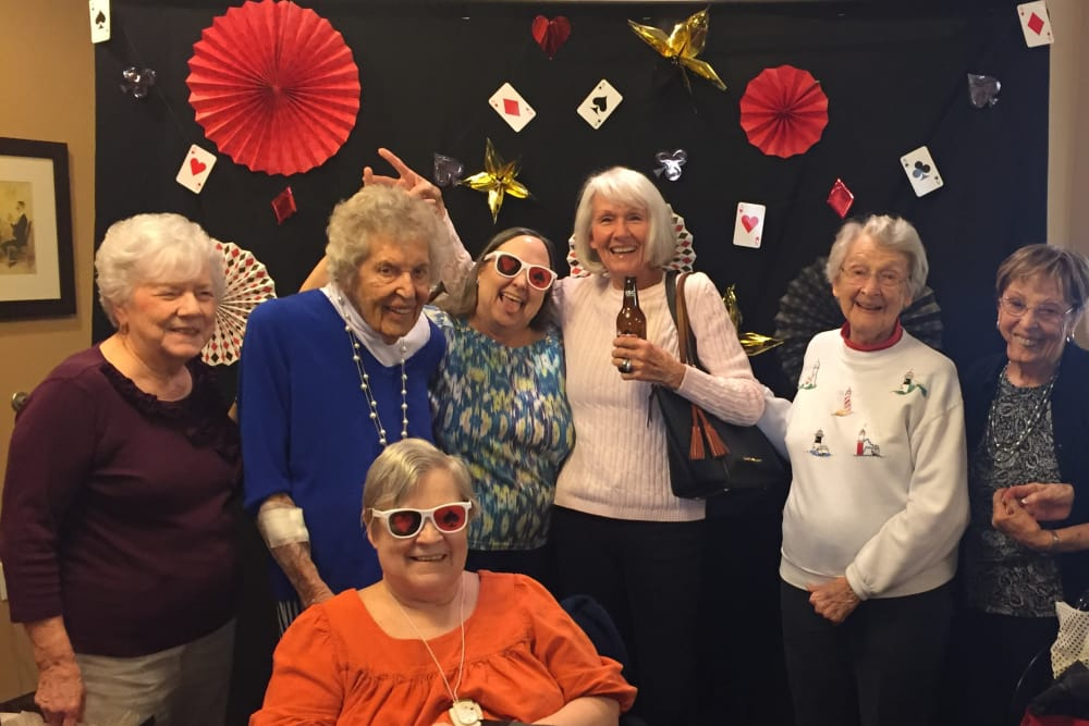 Casino night party event with friends and family at our senior community