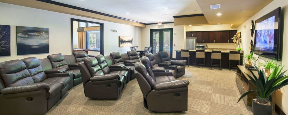 Movie room at Integra Hills Preserve Apartments in Ooltewah, Tennessee