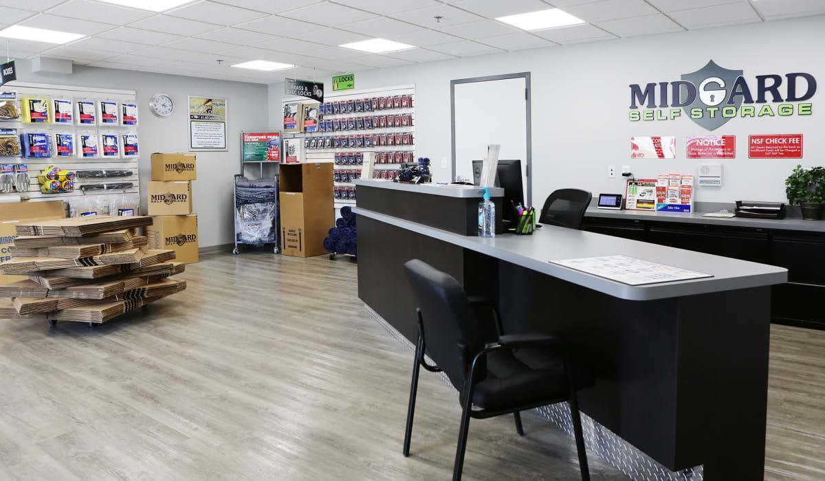 Office at Midgard Self Storage in Midland, NC