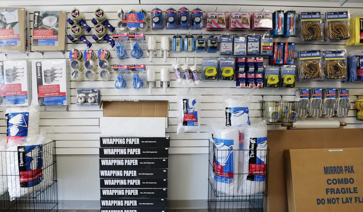 Packing supplies at Midgard Self Storage in Statesboro, GA