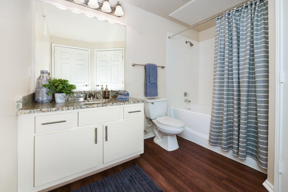 Bathroom at Ballantyne Apartments in Lewisville, Texas