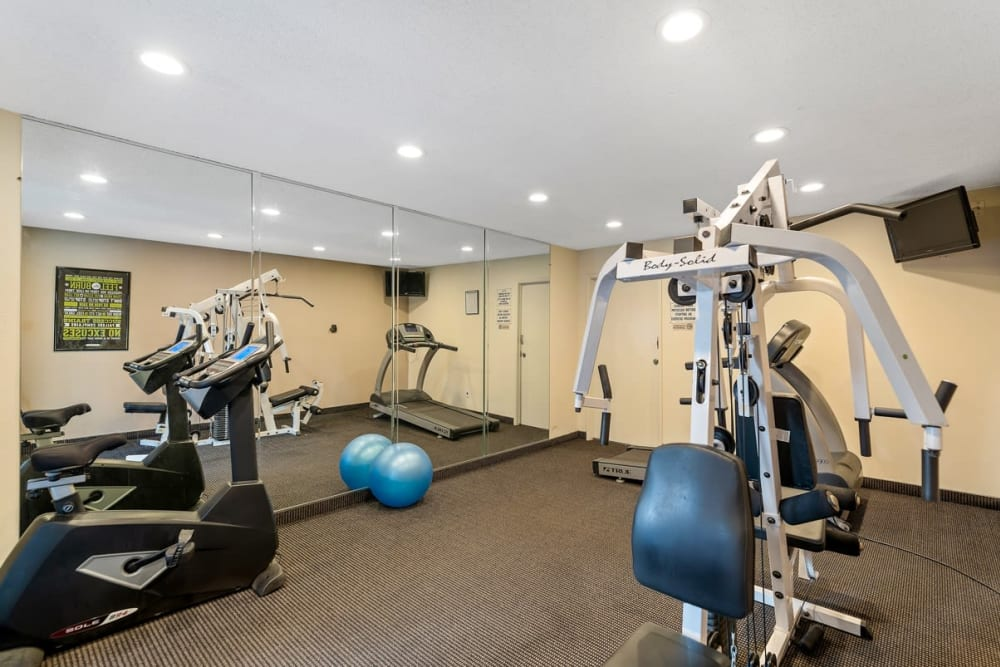 Exercise equipment at The Enclave in Studio City, CA