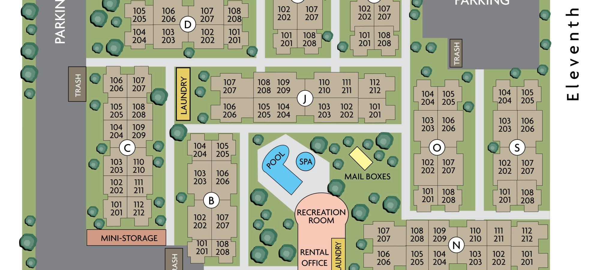 Site plan for Mountain Vista in Victorville, California