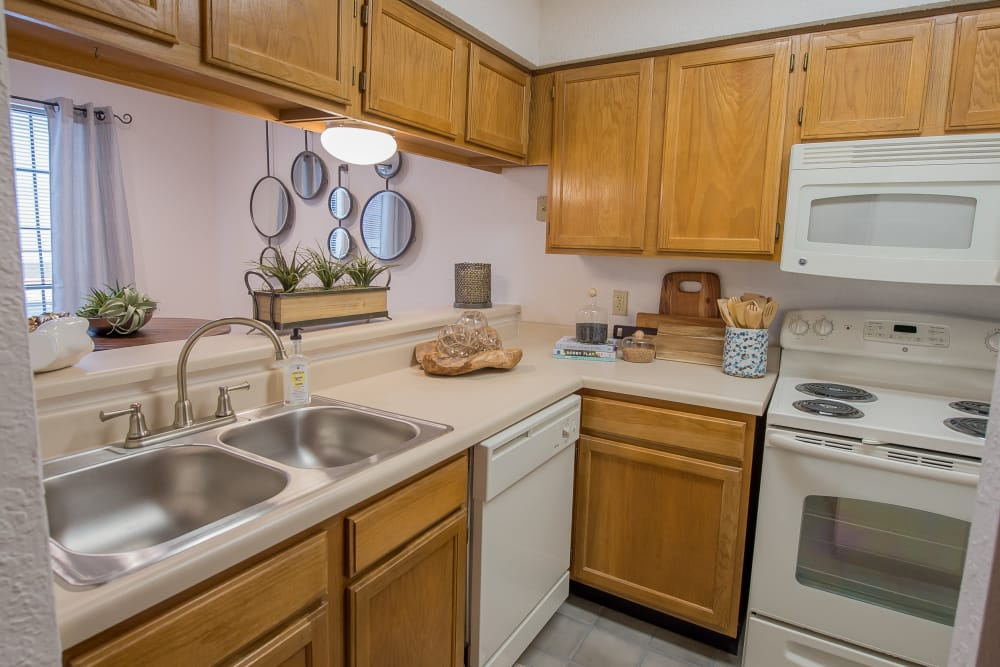 Kitchen at Warrington Apartments