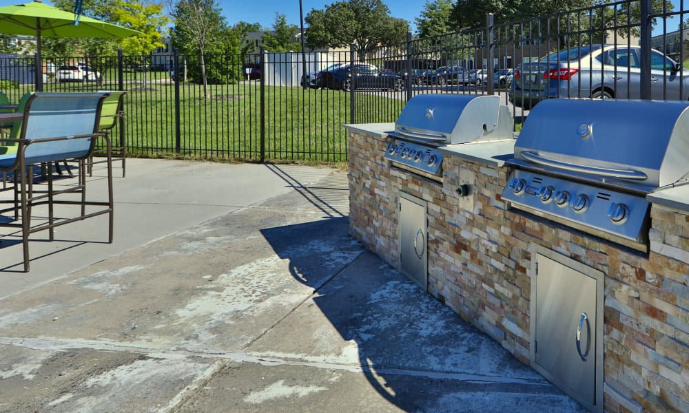 Grilling Station at The Townhomes at Diamond Ridge in Baltimore, Maryland