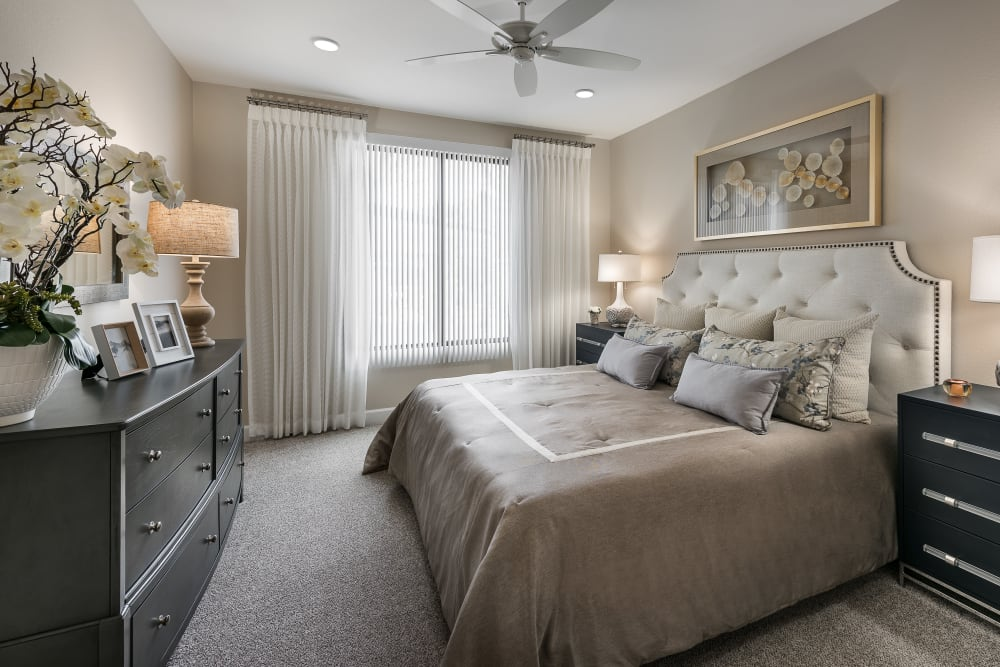 Bright well decorated bedroom at San Artes in Scottsdale, Arizona