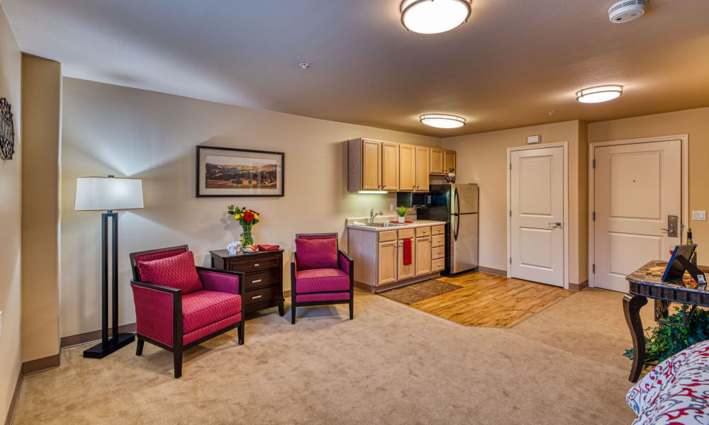 spacious resident floor plans available at Patriots Landing in DuPont, Washington.