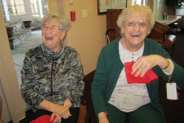 Laughter and friendship at Bella Vista Gracious Retirement Living in Asheville, North Carolina