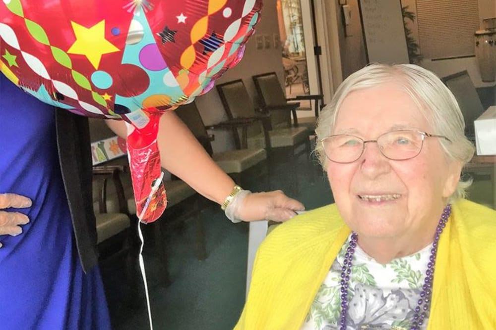 senior celebrating a birthday