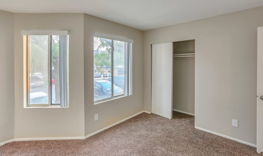 Spacious living room at apartments in Salt Lake City, Utah