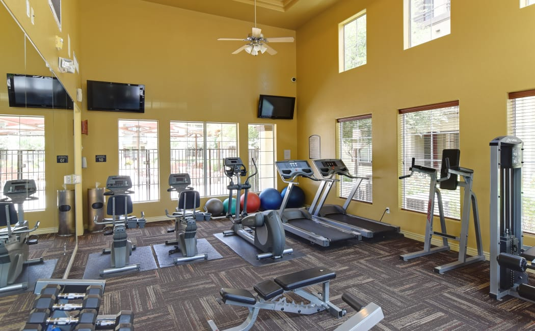 Well-equipped fitness center at Waterford at Peoria in Peoria, Arizona