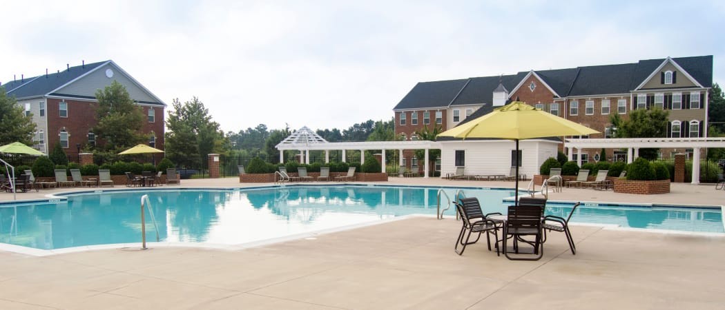 Swimming pool at The Flats at West Broad Village