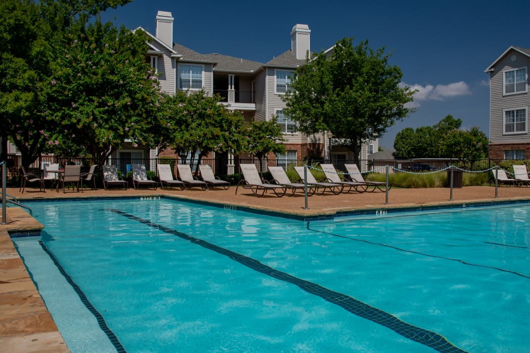 Beautiful pool at Prairie Springs in Oklahoma City, Oklahoma