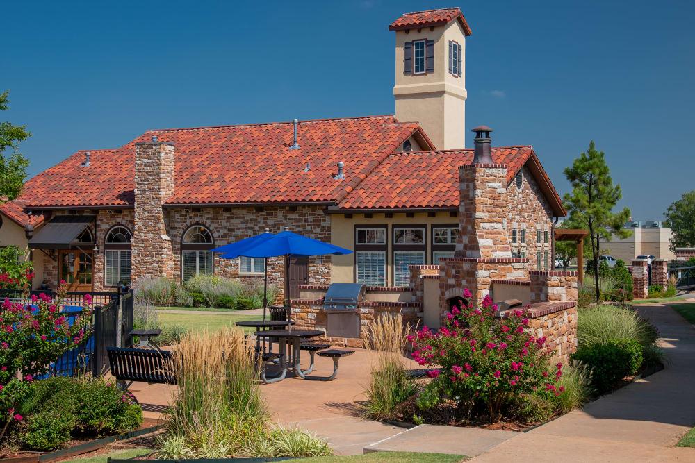 Grill & Chill area at Villas at Canyon Ranch in Yukon, Oklahoma