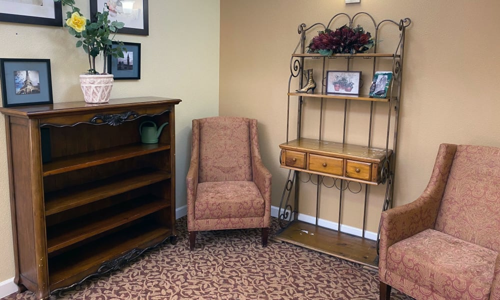 Resident Sitting Area at Evergreen Memory Care