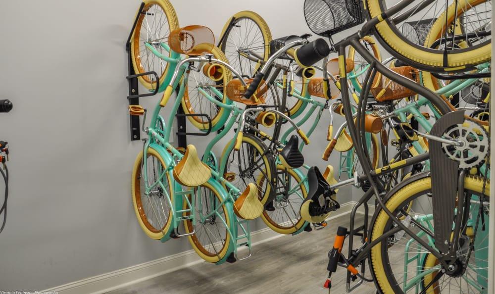 Bikes for resident use at Aqua on 25th in Virginia Beach, VA