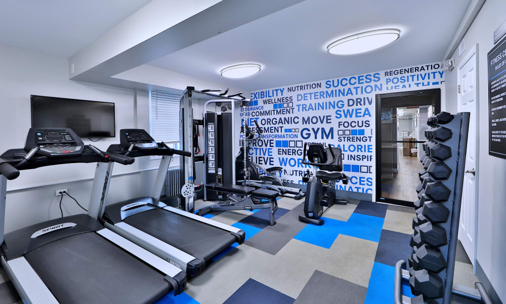 Fitness center at Oak Grove Apartments & Townhomes in Middle River, MD