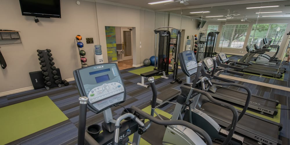The fitness center at Prairie Springs in Oklahoma City, Oklahoma