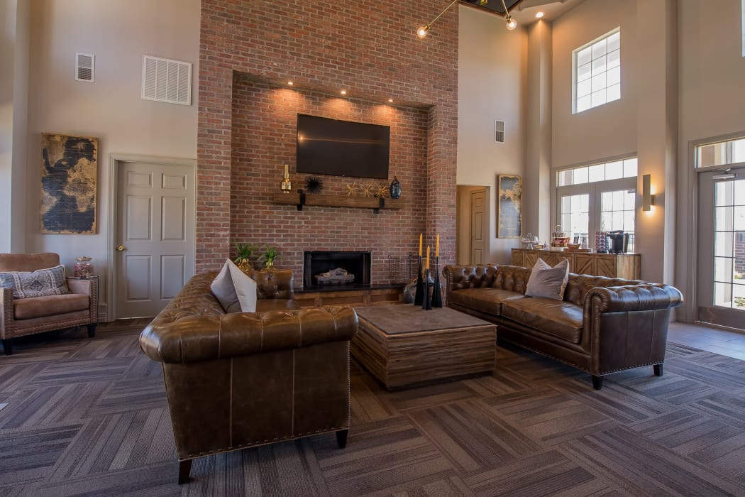 Clubhouse with vaulted ceilings at Remington Apartments in Amarillo, Texas