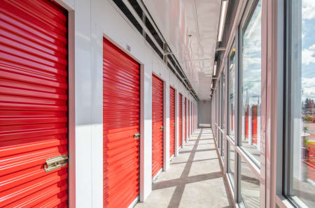 Indoor storage units at StorQuest Self Storage in Modesto, California