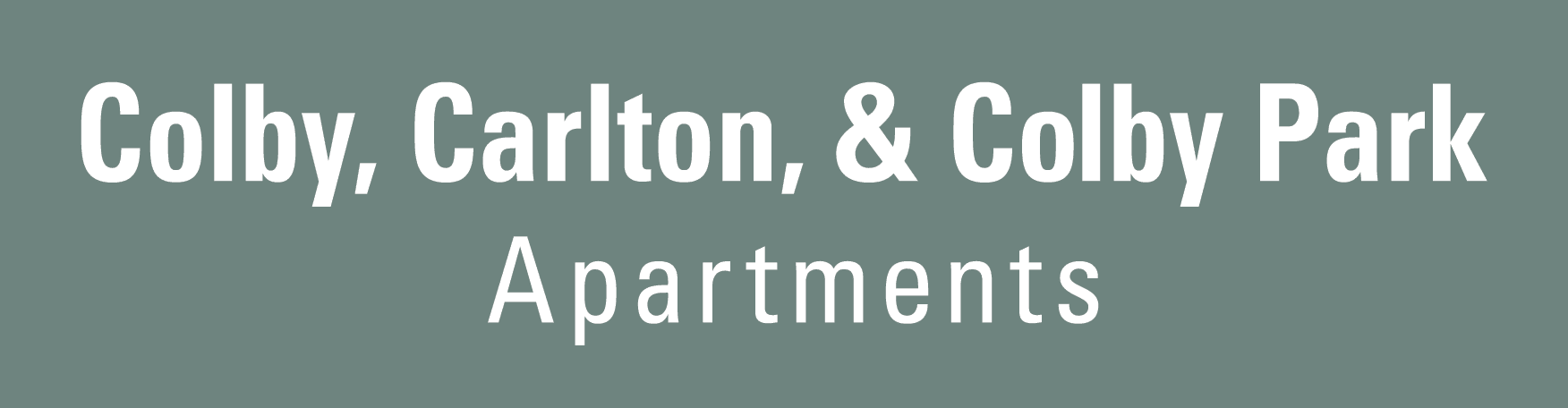 Colby, Carlton, and Colby Park Apartments