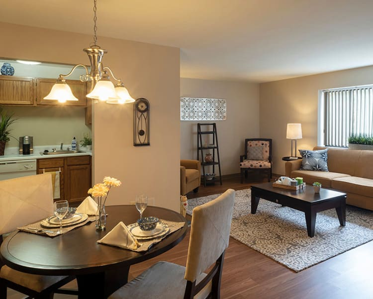 Spacious floor plans at Maiden Bridge & Canongate Apartments in Pittsburgh, Pennsylvania