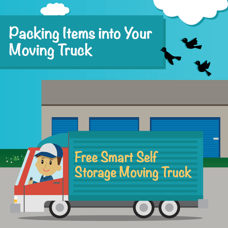 Packing Items Into Your Moving Truck at Smart Self Storage in Van Nuys, CA