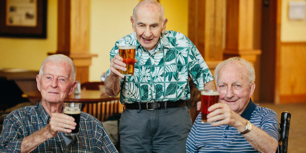 Residents enjoying their beers at The Springs at Missoula in Missoula, Montana