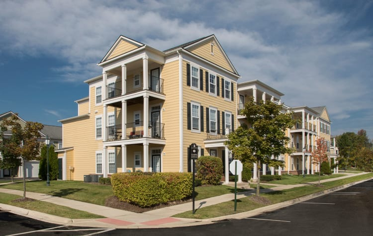 Beautiful exterior view of our apartments at Uptown in Canton in Canton, Michigan