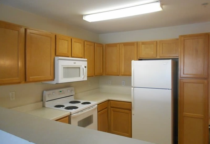 Heritage Apartments offers a beautiful kitchen in Hillsborough, North Carolina