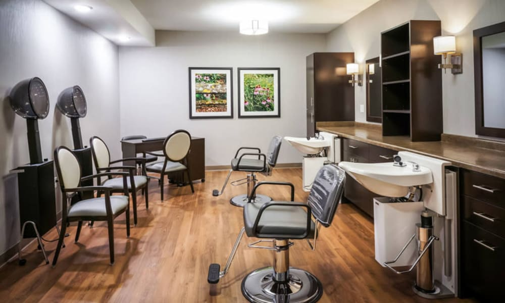Modern salon and spa at The Sanctuary at West St. Paul in West St. Paul, Minnesota
