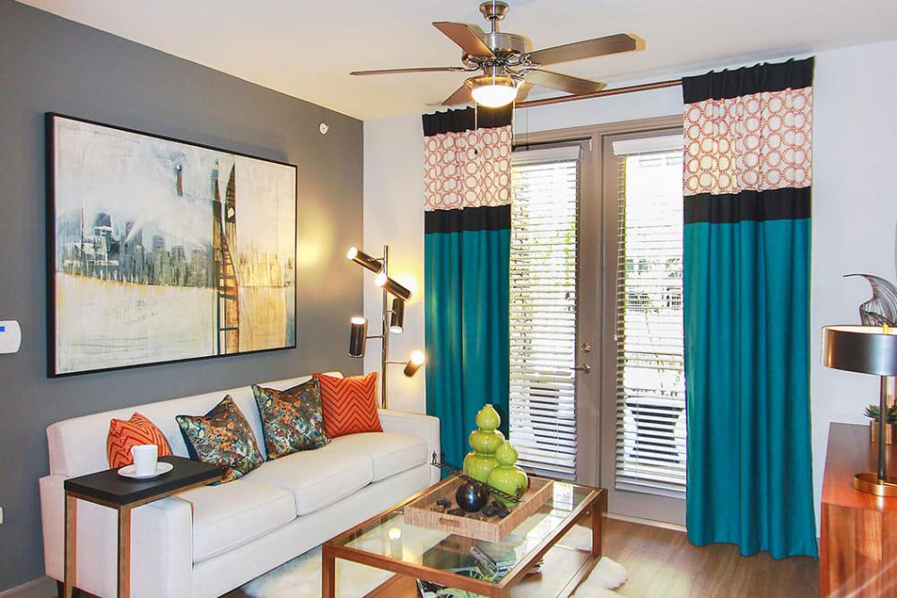 Living Room at Estates of Richardson in Richardson, Texas