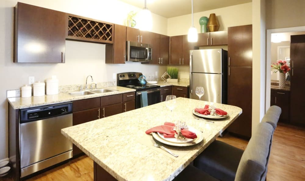 high end kitchen at Springs at Country Club Apartments in Lake Charles, LA