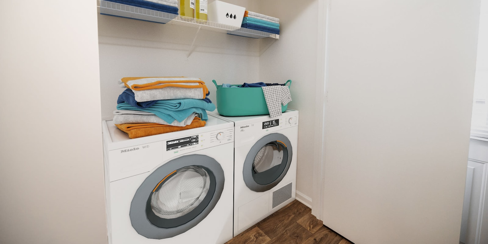 In Home Washer and Dryer at Parkway Station Apartment Homes in Concord, North Carolina