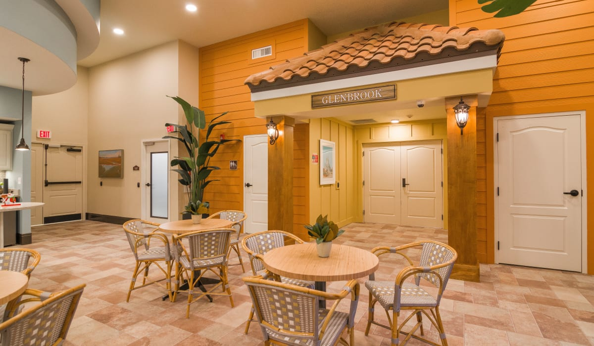 Spacious common area with plenty of seating at CERTUS Premier Memory Care Living in Vero Beach, Florida.