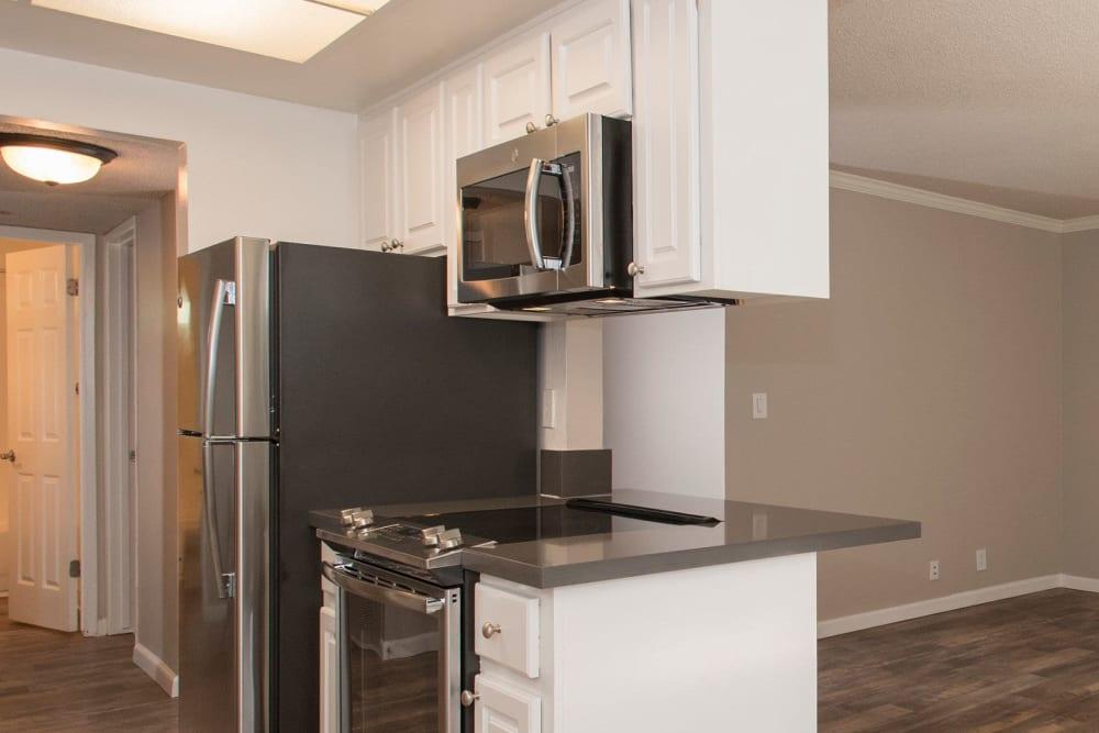 Apartment kitchen at Valley Ridge Apartment Homes in Martinez, California