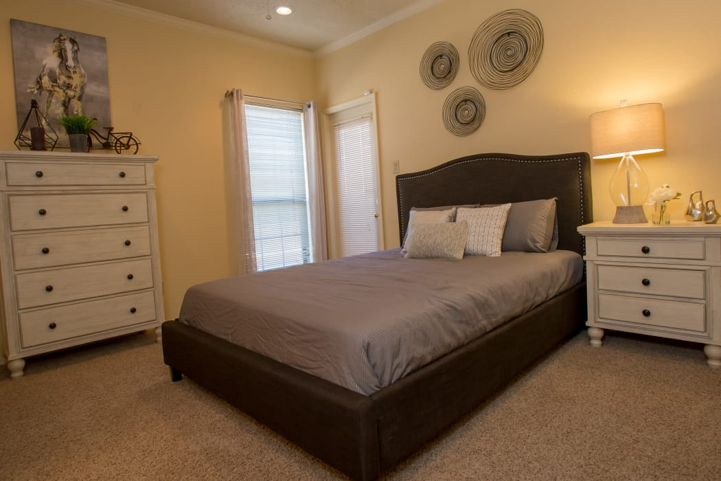 Wonderful bedroom at One Eton Square in Tulsa, Oklahoma